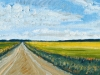 ROAD BETWEEN TWO FIELDS   2004